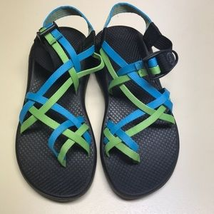 Women's Chaco's in Blue & Green